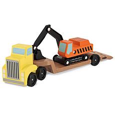Achat Mes premiers jouets Camion à Plate-Forme Surbaissée et Excavatrice