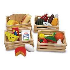 Achat Mes premiers jouets Caisses d'Aliments en Bois