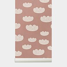 Achat Sticker Papier Peint Nuages - Rose