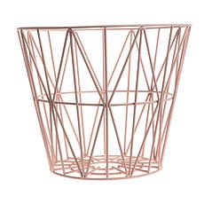 Achat Chariot & Panier Corbeille Wire - Petit modèle - Rose