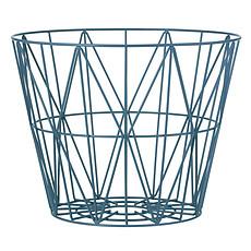 Achat Chariot & Panier Corbeille Wire - Petit modèle - Bleu Pétrole