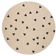 Achat Tapis Tapis Rond - Petit modèle - Triangle Noir