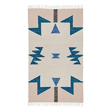 Achat Tapis Tapis Kelim Triangles - Petit Modèle - Bleu