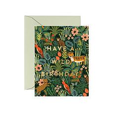 """Achat Anniversaire & Fête Carte Double & Enveloppe Savane """"Have a Wild Birthday"""""""