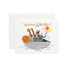 """Achat Livre & Carte Carte Double & Enveloppe Arche de Noé """"Welcome Little One"""""""