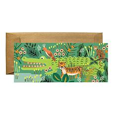 "Achat Anniversaire & Fête Carte Double & Enveloppe Alligator ""Happy Birthday"""