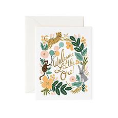 "Achat Livre & Carte Carte Double & Enveloppe ""Welcome Little One"""