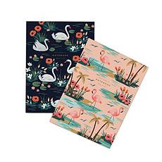 """Achat Livre & Carte Set de 2 Carnets """"Cygne"""" - 15 x 20 cm"""
