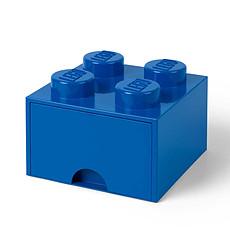 Achat Boite & Sac Brique de Rangement Empilable avec Tiroir 4 plots LEGO® Bleu