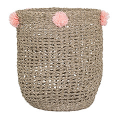 Achat Panier & corbeille Panier Pompons - Rose