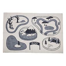 Achat Tapis Tapis Circuit Zoo Gris - 100 x 150 cm