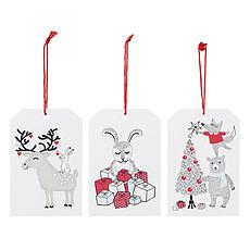 Achat Anniversaire & Fête Pack de 6 Étiquettes Cadeaux - Blanc