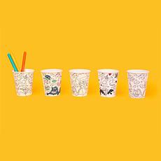 Achat Anniversaire & Fête Lot de 8 Gobelets en carton à colorier