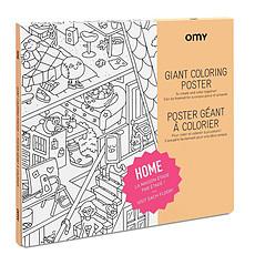 Achat Mes premiers jouets Poster à colorier - Home