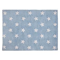 Achat Tapis Tapis Lavable Etoile - 120 x 160 cm - Bleu/Blanc