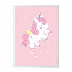 Achat Affiche & poster Poster Baby Licorne - 50 x 70 cm