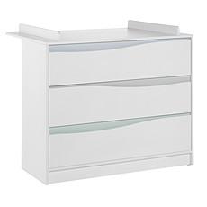 Achat Commode Commode avec Plan à Langer - Collection Wave - Blanc/Pastel
