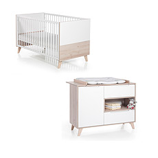 Achat Chambre complète Chambre Duo Lit & Commode - Collection Mette
