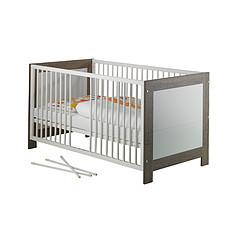 Achat Lit bébé Lit 70 x 140 cm - Collection Marlene - Blanc / Ceruse