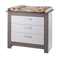 Achat Commode Commode avec Plan à Langer - Collection Marlene - Blanc / Ceruse