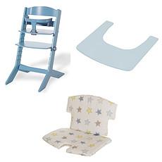 Achat Chaise haute Chaise Haute Syt Tablette et Coussin de Chaise - Bleu