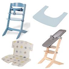 Achat Chaise haute Pack Chaise Haute Syt, Transat Sit'N'Sleep, Tablette & Coussin de Chaise Etoiles - Bleu