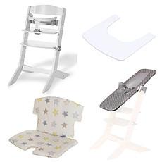 Achat Chaise haute Pack Chaise Haute Syt, Transat Sit'N'Sleep, Tablette & Coussin de Chaise Etoiles - Blanc