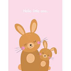 Achat Anniversaire & Fête Carte de Naissance Lapin Hello Little One