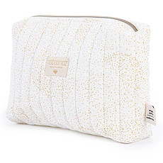 Achat Trousse Trousse de Toilette Travel - Gold Bubble & White