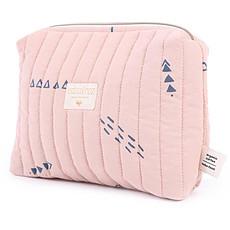Achat Textile Trousse de Toilette Travel - Blue Secrets & Misty Pink