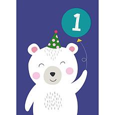 Achat Anniversaire & Fete Carte Premier Anniversaire Polar Bear