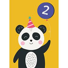 Achat Anniversaire & Fête Carte Deuxième Anniversaire Panda