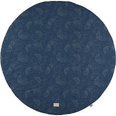 Achat Tapis Tapis Rond Full Moon - Gold Bubble Night Blue