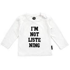 Achat Vêtement layette T-shirt I'm not listening