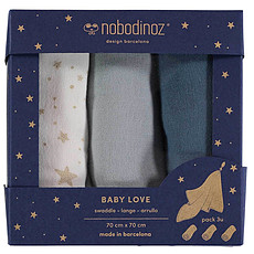 Achat Lange Lot de 3 Langes Baby Love - Night Blue