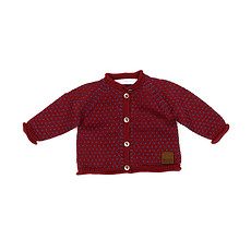 Achat Vêtement layette Collection Provence - Cardigan Mia - Bordeaux