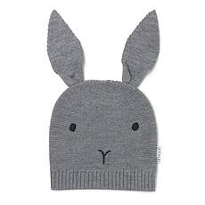 """Achat Accessoires bébé Bonnet Viggo """"Rabbit"""" - Solid Grey - 3/4 ans"""
