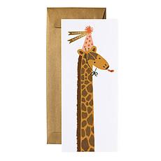 "Achat Anniversaire & Fête Carte Double & Enveloppe ""Birthday Giraffe"""