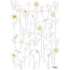 Achat Sticker Botany - Stickers A3 - Petites Fleurs sur Tiges