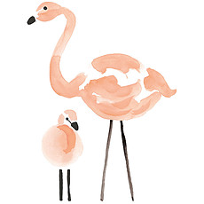 Achat Sticker Flamingo - Stickers XL - Flamants Roses