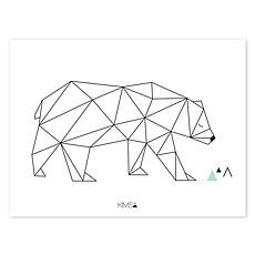 Achat Affiche & poster Origami Play - Affiche Géométrique Ours