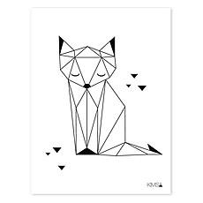 Achat Affiche & poster Origami Play - Affiche Géométrique Renard