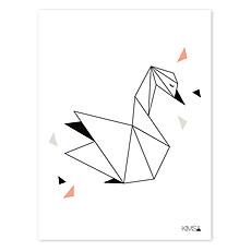 Achat Affiche & poster Origami Play - Affiche Géométrique Cygne