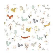 Achat Papier peint Woodland - Papier Peint - La Forêt aux Ecureuils