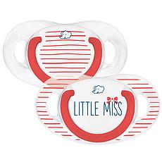 Achat Sucette Lot de 2 Sucettes Silicone Natural Physio Little Miss - 0/6 mois