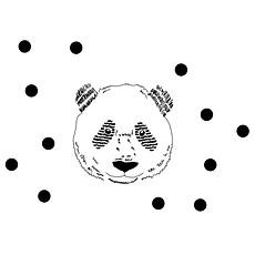 Achat Sticker Sticker Tête de panda