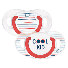 Achat Sucette Lot de 2 Sucettes Silicone Natural Physio Cool Kid - 18/36 mois