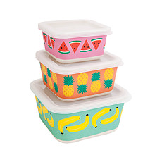 Achat Vaisselle & Couvert Set de 3 Boîtes Lunch - Salade de Fruit
