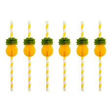 Achat Anniversaire & Fête Lot de 12 pailles Ananas