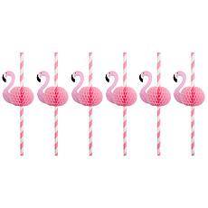 Achat Anniversaire & Fête Lot de 12 pailles Flamant Rose